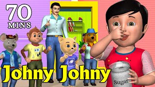 Download Johny Johny Yes Papa Nursery Rhyme - Kids' Songs - 3D Animation English Rhymes For Children Video