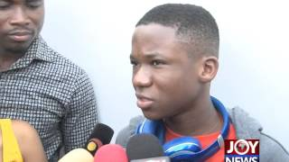 Download Abraham Attah arrives in Ghana Video
