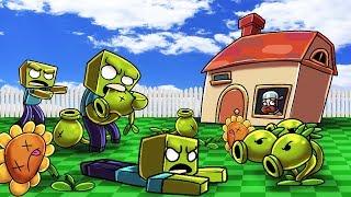 Download Minecraft | PLANTS VS ZOMBIES CHALLENGE! (ZOMBIE HORDE ATTACKS) Video