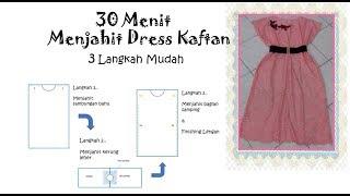 Download Cara membuat pola dan menjahit baju dress brokat kaftan modern menggunakan mesin jahit portable Video