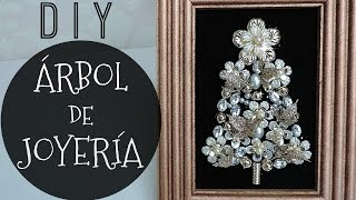 Download DIY ARBOL ORO ROSA CON JOYERÍA! / DIY CHRISTMAS TREE PORTRAIT Video
