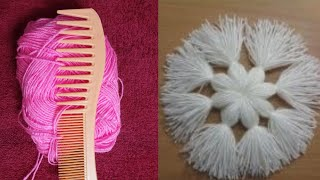 Download Amazing Hair Comb Beautiful Flower Design Trick And Trick Hand Embroidery Video
