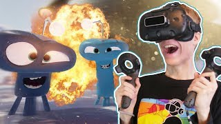 Download ALIEN ATTACK IN VIRTUAL REALITY! | Invasion VR (HTC Vive Gameplay) Video