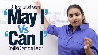 Download Using ″May I' Vs 'Can I' - English Grammar Lesson Video