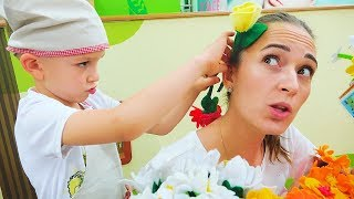 Download Vlad Pretend play Flower shop Surprise for mom Video