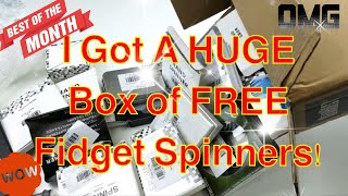 Download Big Box of FREE Fidget Spinner Unboxing! + 5 Giveaways Announced! Video