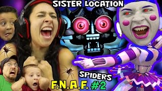 Download CRINGEY BALLERINA Scares MOM! FNAF SISTER LOCATION #2 w/ REAL SPIDERS (FGTEEV SCARY Ballora Gameplay Video