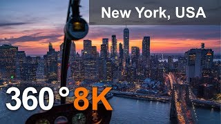 Download New York, USA. City of Skyscrapers. 360 8K aerial video Video