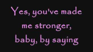 Download you've made me stronger clear lyrics Video