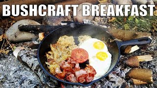 Download Bushcraft Breakfast Cooking at my Shelter Camp Video