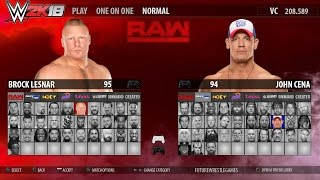 Download WWE 2K18 - FULL ROSTER GAMEPLAY (RAW,SmackDown,NXT,205,Divas,Legends) [Concept] Video