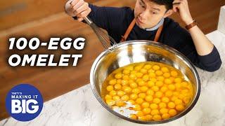 Download I Made A Giant 100-Egg Omelet •Tasty Video