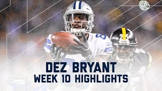 Download Dez Bryant Comes Up Big! | Cowboys vs. Steelers | NFL Week 10 Player Highlights Video