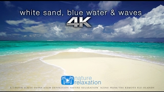 Download White Sand, Blue Water & Waves [4K UHD] 2 Hours - Fiji Islands - Nature Relaxation™ Video