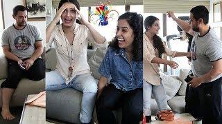 Download Aamir Khan's BIG SURPRISE For Fatima Sana Shaikh and Sanya Malhotra | Behind The Scenes Of DANGAL Video