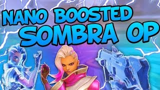 Download NANOBOOSTED Sombra Is OP! Genius Strats! - Overwatch WTF Funny Moments! Video