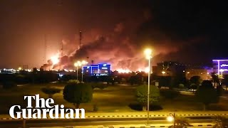 Download Saudi Arabia: major fire at world's largest oil refinery after drone attack Video