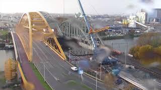 Download Timelapse: Inschuiven spoorbrug Amsterdam-Rijnkanaal deel II Video