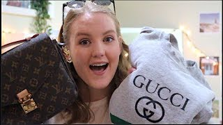 Download THRIFT STORE SHOPPING: LOUIS VUITTON, GUCCI, AND RAYBANS | EMILYKAITLYN Video