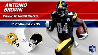 Download Antonio Brown Does it Again w/ 169 Yds & 2 TDs! | Packers vs. Steelers | Wk 12 Player Highlights Video