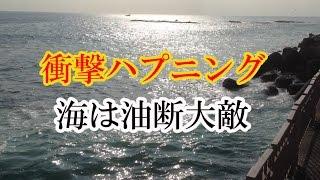 Download 【衝撃映像】江ノ島防波堤で想定外の巨大ウネリ!高波にのまれる【自戒】Quiet sea attacks the people Video