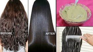 Download How to straighten Hair Naturally at home within 15 minutes ! |100% Works | 3 Ingredients. Video