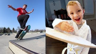 Download ADIML 59: KARATE TEST & SKATEBOARDING! (Finally) Video