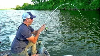 Download Catching GIANT Catfish with LIGHT Bass Fishing Gear!!! Video