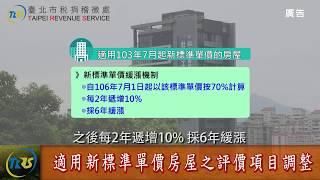 Download 地方稅e新聞-北市重行評定106年房屋標準價格 Video