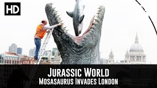 Download Jurassic World - A Mosasaurus Invades London (PR Stunt) Video