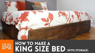 Download King size bed (with storage) // How-To Video