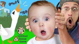 Download BAD MOUTH BIRD! No Say Those WORDS! (FGTeeV plays Untitled Goose Game #1) Video