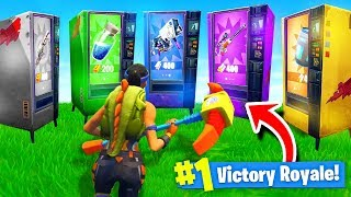 Download Using *ONLY* VENDING MACHINES To WIN Fortnite: Battle Royale! (Challenge) Video