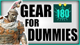 Download FOR HONOR | BEGINNERS GEAR GUIDE | EVERYTHING ABOUT GEAR IN DEPTH | DROPS, REFINED, BUILDS Video