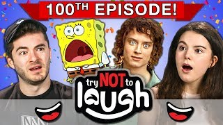 Download Try To Watch This Without Laughing or Grinning | 100th Episode (React) Video