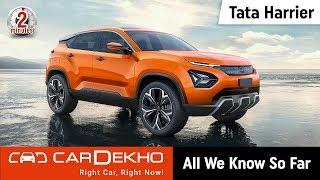 Download 2019 Tata Harrier (aka Tata H5X): All We Know So Far | #In2Mins | CarDekho Video