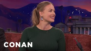 Download Yvonne Strahovski Was Repulsed By Her Husband - CONAN on TBS Video