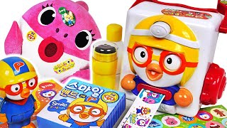 Download Pororo sticker maker Toys Play!The Baby Shark did a good thing! Give a Pororo sticker! #PinkyPopTOY Video
