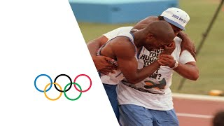 Download Derek Redmond's Emotional Olympic Story - Injury Mid-Race | Barcelona 1992 Olympics Video