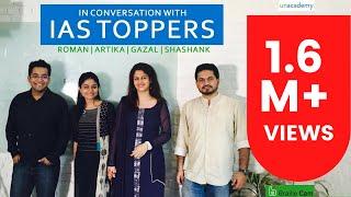 Download Roman Saini in Conversation with IAS Toppers 2016: Artika Shukla, Shashank Tripathi, Gazal Bhardwaj Video