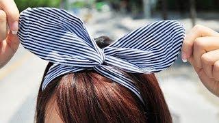 Download Cách Làm Băng Đô Tai Thỏ Từ Chiếc Áo Cũ - Bunny Ear Headband | Yêu Làm Đẹp Video