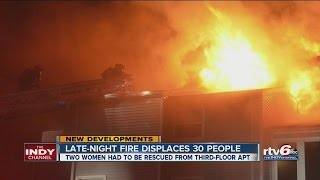 Download 30 residents displaced by NE-side apartment fire Video