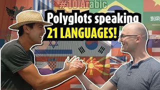 Download unique encounter between 2 polyglots in 21 languages Video