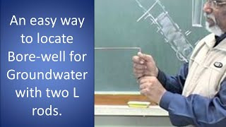 Download An easy way to locate Borewell for Groundwater with two L rods. Video