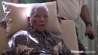 Download First video of Nelson Mandela since hospital release Video