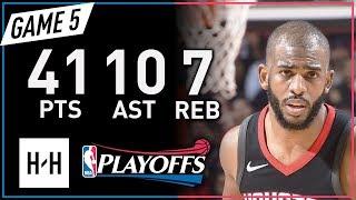 Download Chris Paul Full Game 5 Highlights Jazz vs Rockets 2018 NBA Playoffs - 41 Pts, 10 Ast, 7 Reb! Video