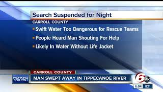 Download Search underway after man swept away in Tippecanoe river Video