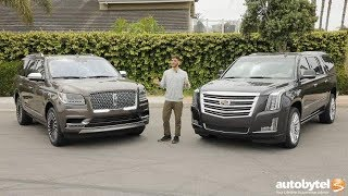 Download Full-Size American Luxury SUV Comparison: 2018 Lincoln Navigator vs 2018 Cadillac Escalade Video