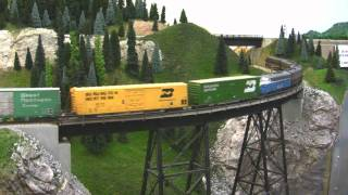 Download BN HO Scale Layout Model Railroad Train Video - HD JAN 2011 Video