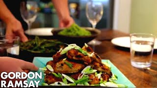 Download Spicy Chicken Wings, Thai Green Curry Rice & Green Beans with Chilli Peanut Dressing | Gordon Ramsay Video